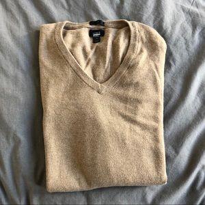 J. Crew men's cotton-cashmere v-neck sweater